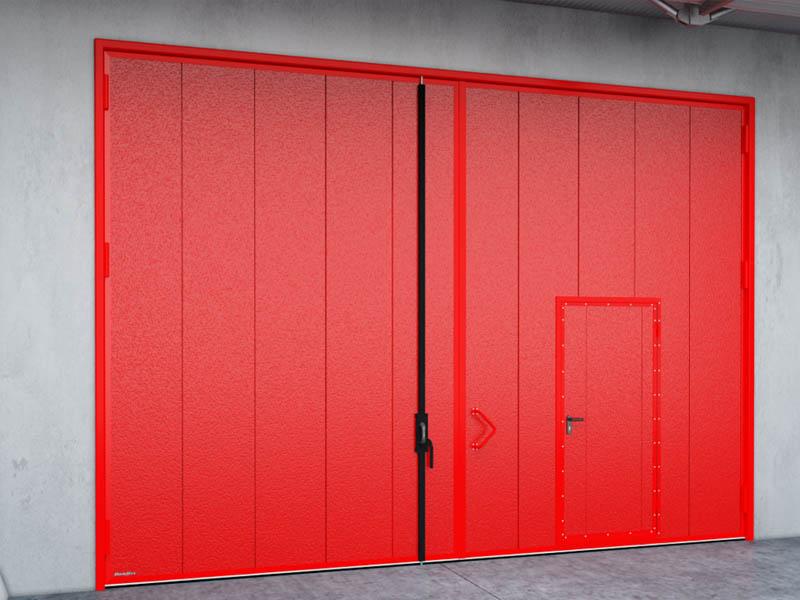 Новинка! Гаражные распашные ворота из панелей с заполнением минеральной ватой